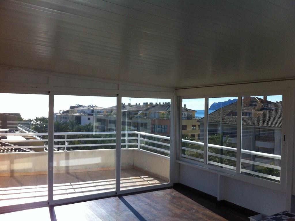 Cerramiento De Terraza Techo De Aluminio Y Ventanas Con C