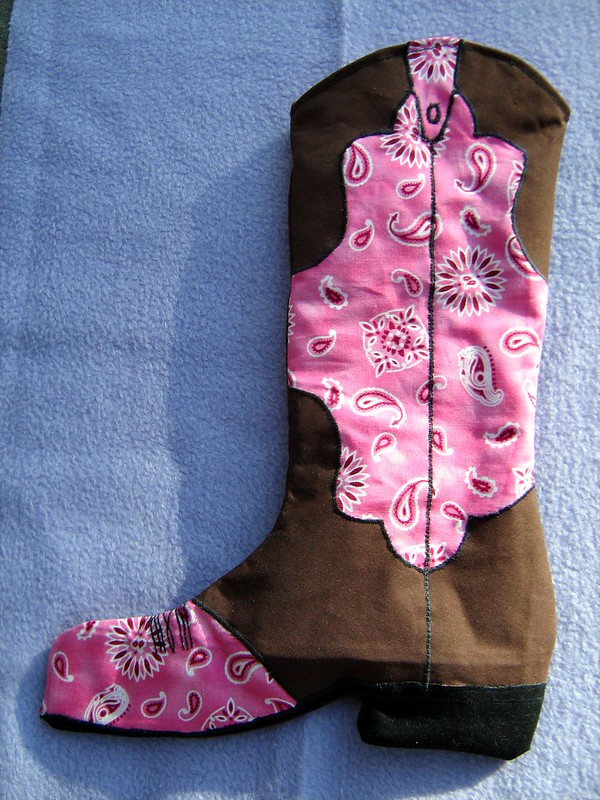 Cowgirl boot stocking