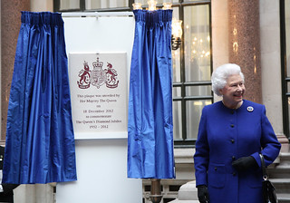 H.M. The Queen unveils a plaque   by Foreign and Commonwealth Office