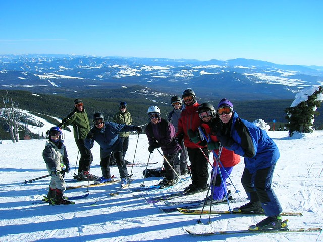 8. Skiing