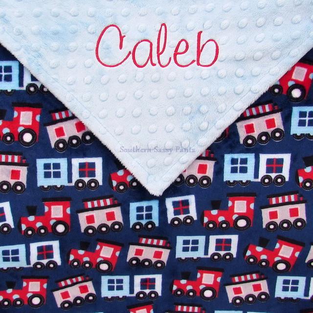 Choo-Choo Trains Baby Blanket