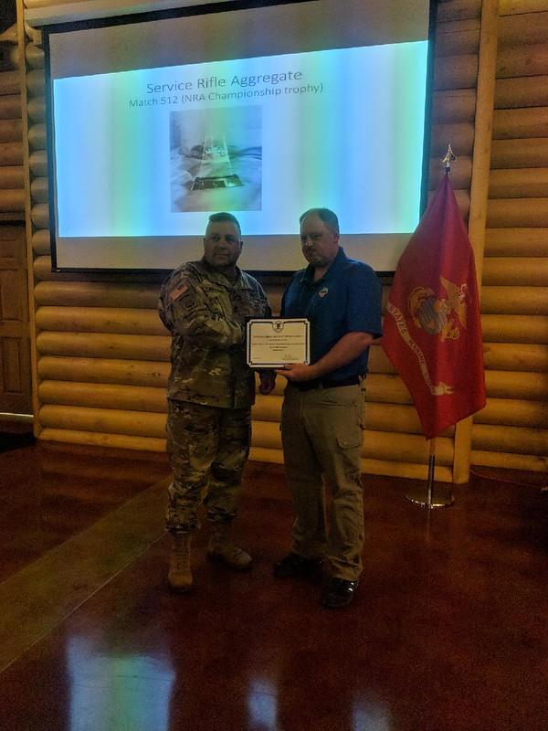 SFC Gervasio third place service rifle aggregate