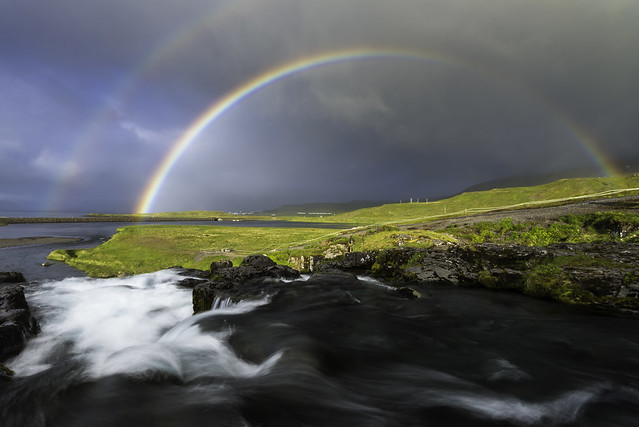 Kirkjufellsfoss and Rainbow
