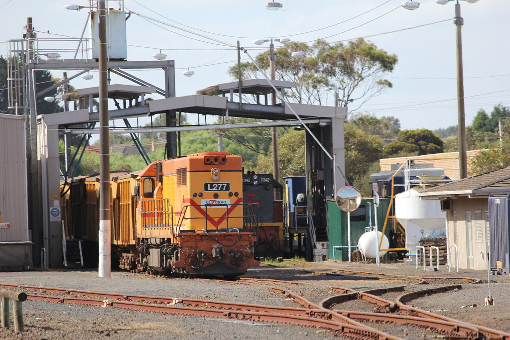 L277 and T342 sit at the Portland rail depo on Melbourne Cup Day by bukk05