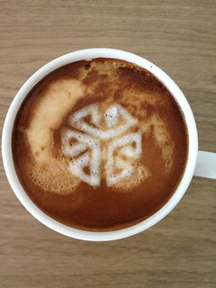 Today's latte, SGI cube logo. | by yukop