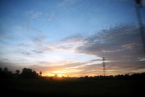 sky clouds sunrise paddy perlis arau
