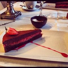#chokladtårta på Wreta Gästgifveri. gudomlig. #choklad #efterrätt