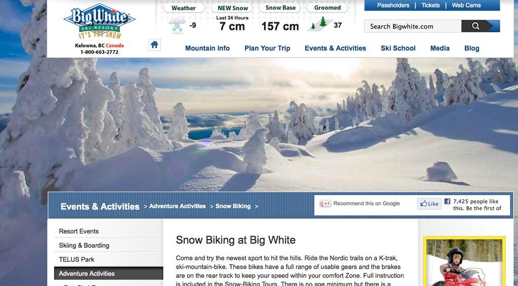 big white website
