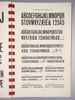Condensed Sans Serifs No. 37