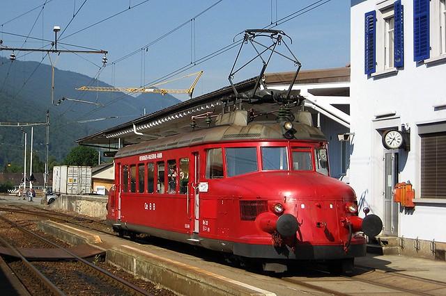Roter Pfeil in Balsthal Schweiz (Juni 2010)
