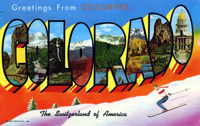 Greetings from Colorful Colorado, The Switzerland of America - Large Letter Postcard