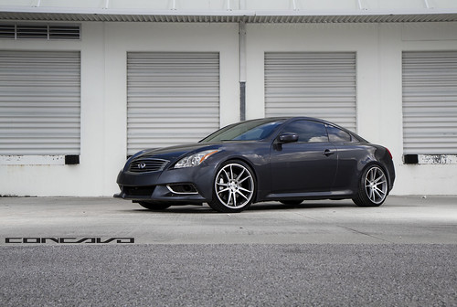 INFINITI G37 ON CW-S5 MATTE GREY MACHINED FACE | by Concavo Wheels