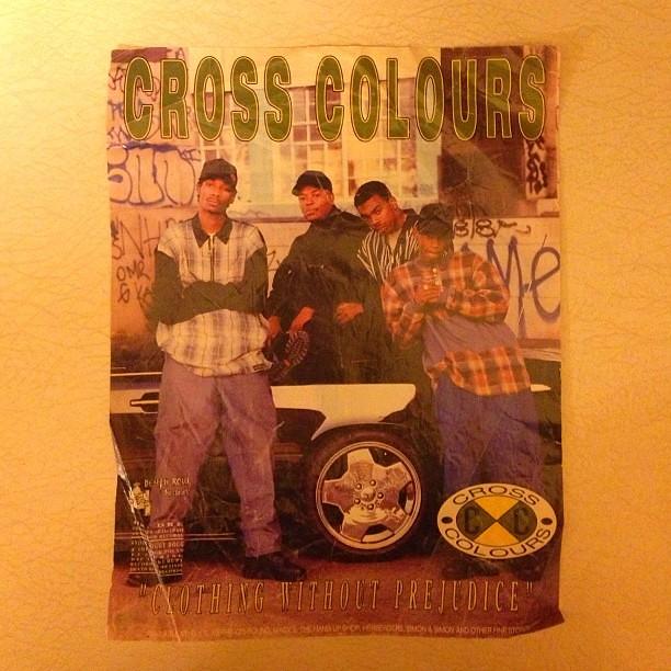 1993 Cross Colours ad with Snoop, Dre, Daz, and Kurupt  Ha