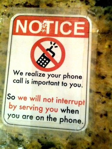 Mobile phone etiquette stickers 2, Jimmy's Coffee, Toronto, Ontario, Canada | by gruntzooki