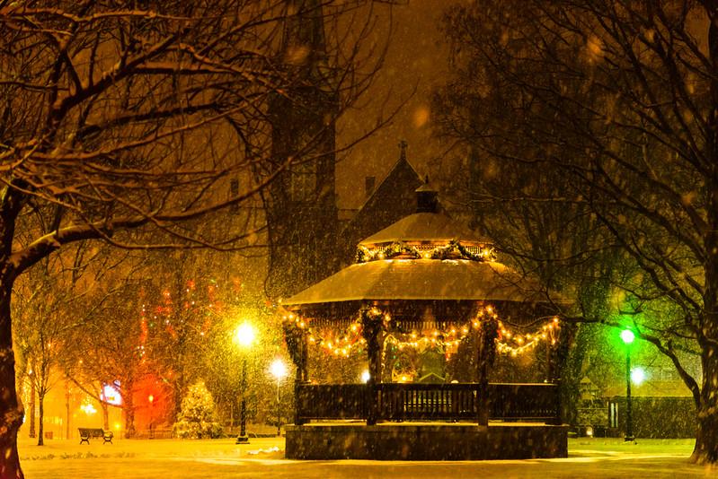 Winter scene at Natick Center