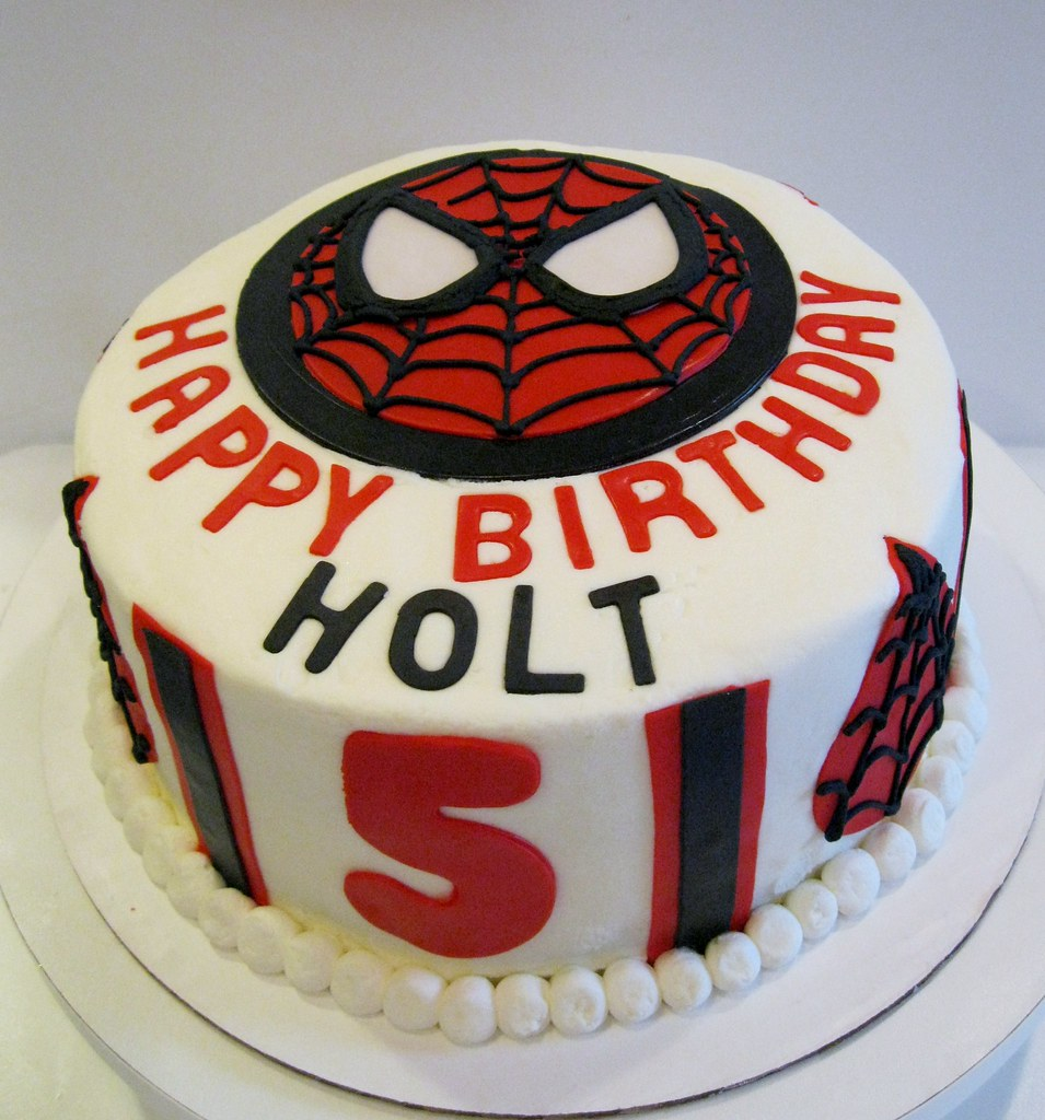 Super Spiderman Birthday Cake Sugarheart Cookies Cakes Flickr Personalised Birthday Cards Paralily Jamesorg