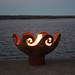 The Waves O' Fire Sculptural Firebowl Print Quality Photos