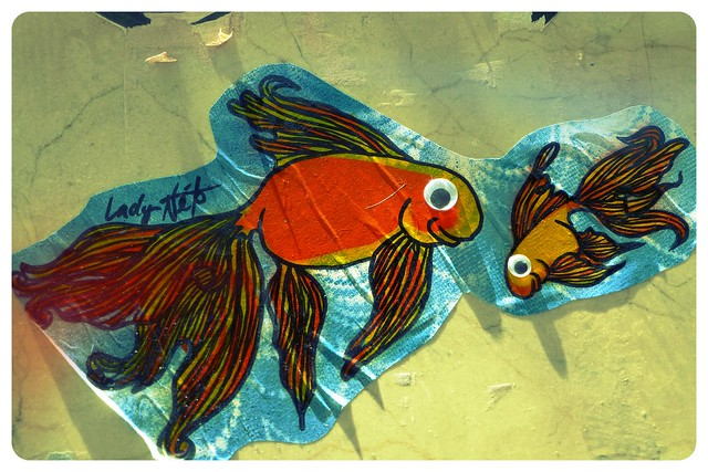 Goldfish street art