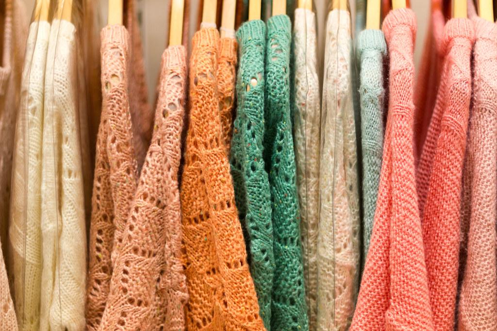 Korean knits, pastel style