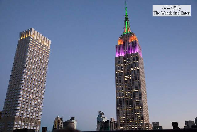 Sunset and the view of Empire State Building