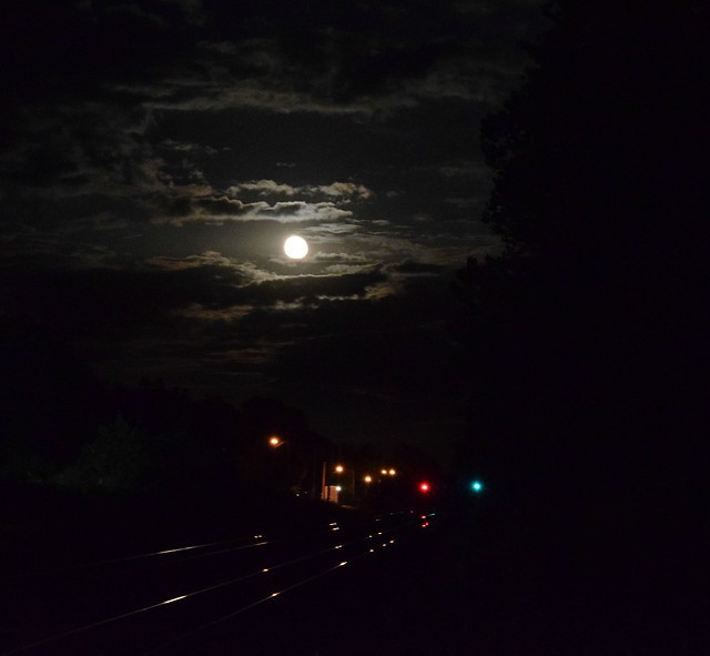 Full Moon on the mainline