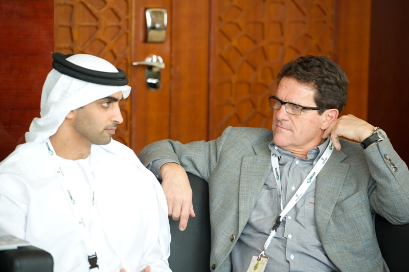 Mohammed Al Mahmood and Fabio Capello