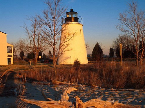 Piney Point Lghthouse in winter, Piney Point