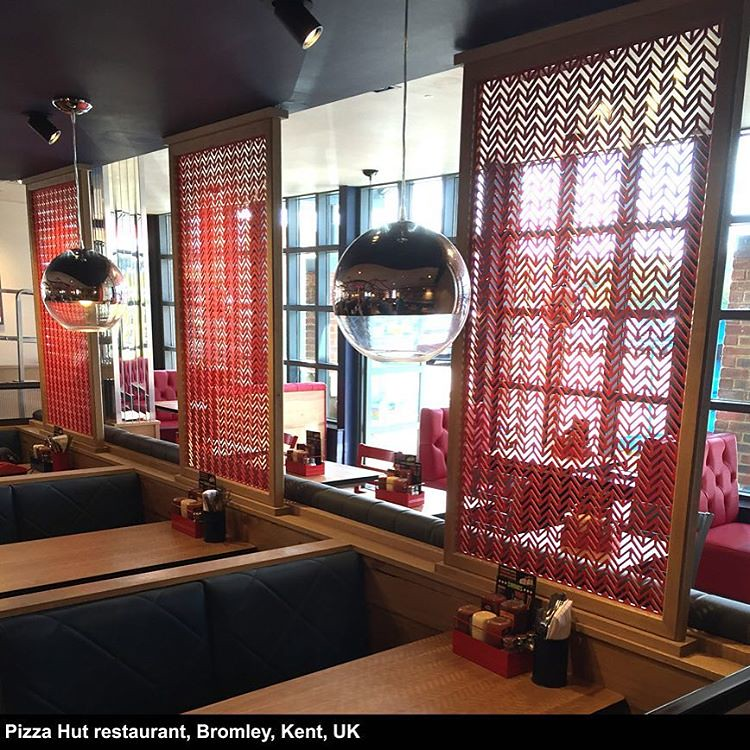 Laser Cut Screens For Uk Restaurant Pizzahut Pizza Rest