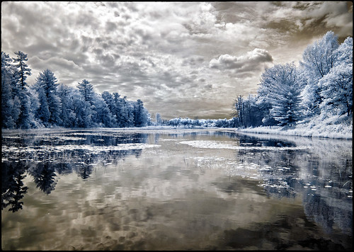 pinery provincial park ontario canada infrared ir river ausable