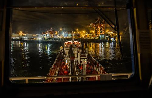 tanker oiltanker vessel port inport dublin night harbour cranes canoneos6d maritime industry oilindustry
