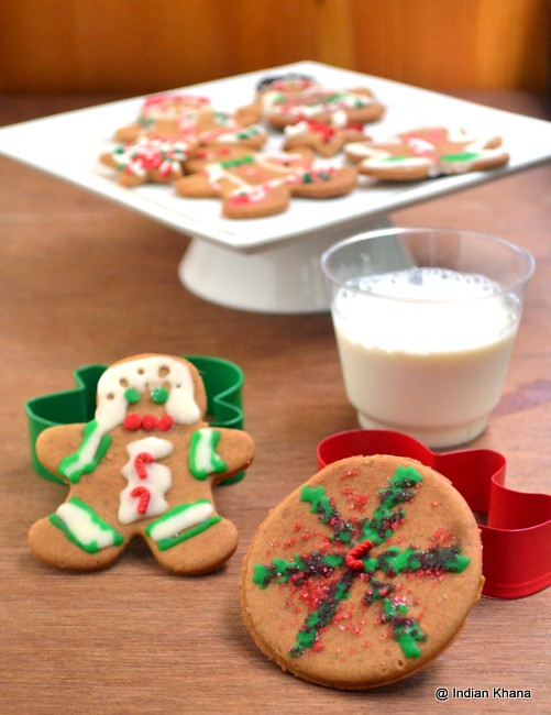Easy Eggless Christmas Gingerman Cookie Recipe Indiankhann Flickr