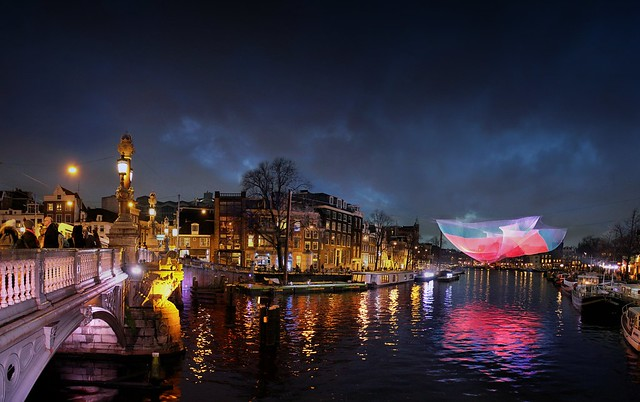 The grand light festival in downtown Amsterdam
