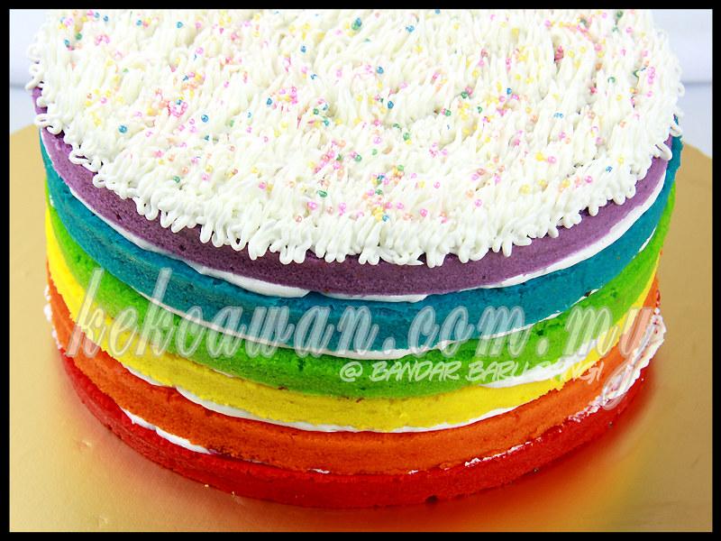 By Deheart Rainbow Cake For Little Adeena Auni 1st Birthday