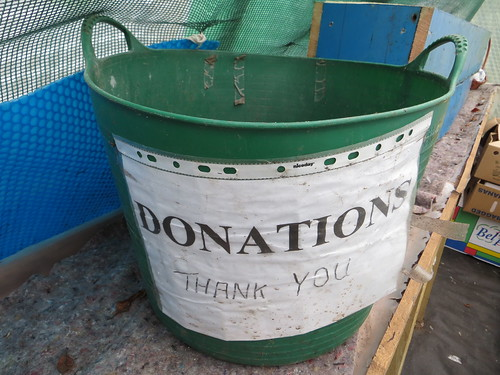 Donations bucket | by HowardLake