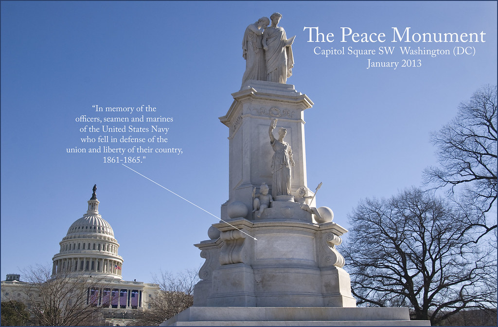 The Peace Monument Capitol Hill Washington Dc January