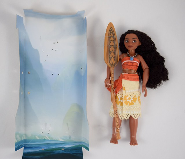 Disney Moana Classic Doll - 11'' - Disney Store Purchase - Deboxing - Removed From Backing - Lying Down - Full Front View