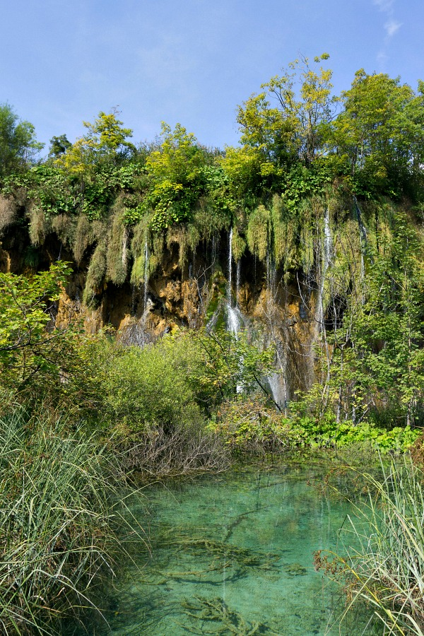 Crystal Blue Waters of Plitvice Lakes Park