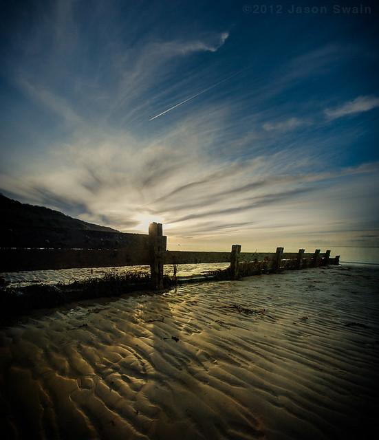 Long Shadows at Totland Bay