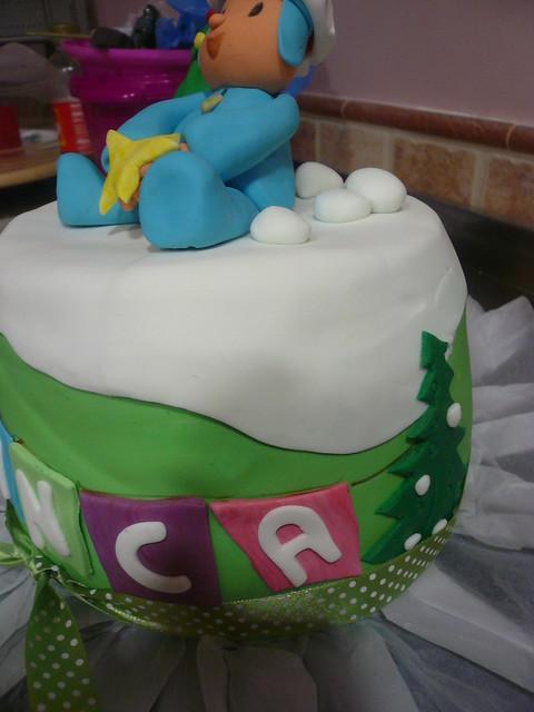 pocoyo cake navidad