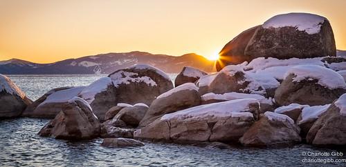 winter sunset landscape laketahoe weatherandseasons charlottegibbphotography