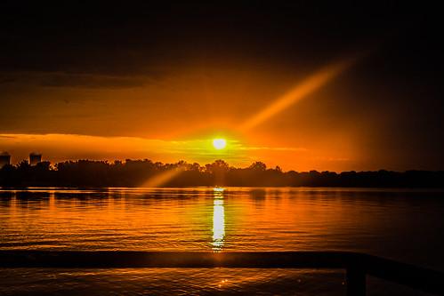 usa sun beach sunrise michigan monroe rise frenchtown