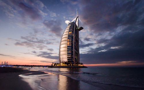 sunset sea sky seascape reflection hotel dubai dusk uae emirates burjalarab unitedarabemirates arabiangulf