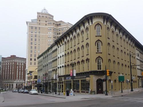 city winter urban west buildings downtown cityscape michigan january grand center historic rapids grandrapids
