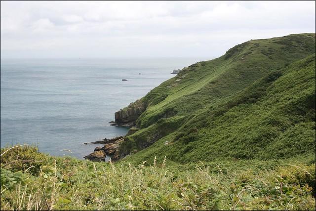 The east coast of Sark