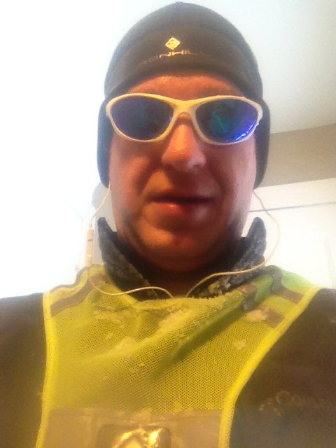 8 miles in the snow