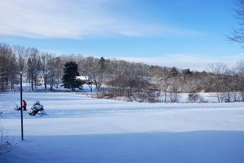 winter snow cold home connecticut ct ballouville