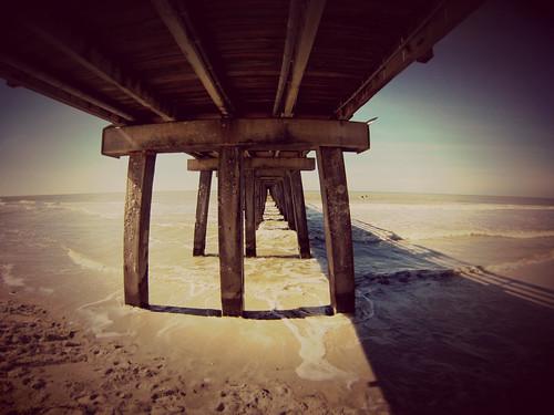 ocean shadow water lines pier florida naples noon fla depth naplespier swfl gulfside gopro hero3
