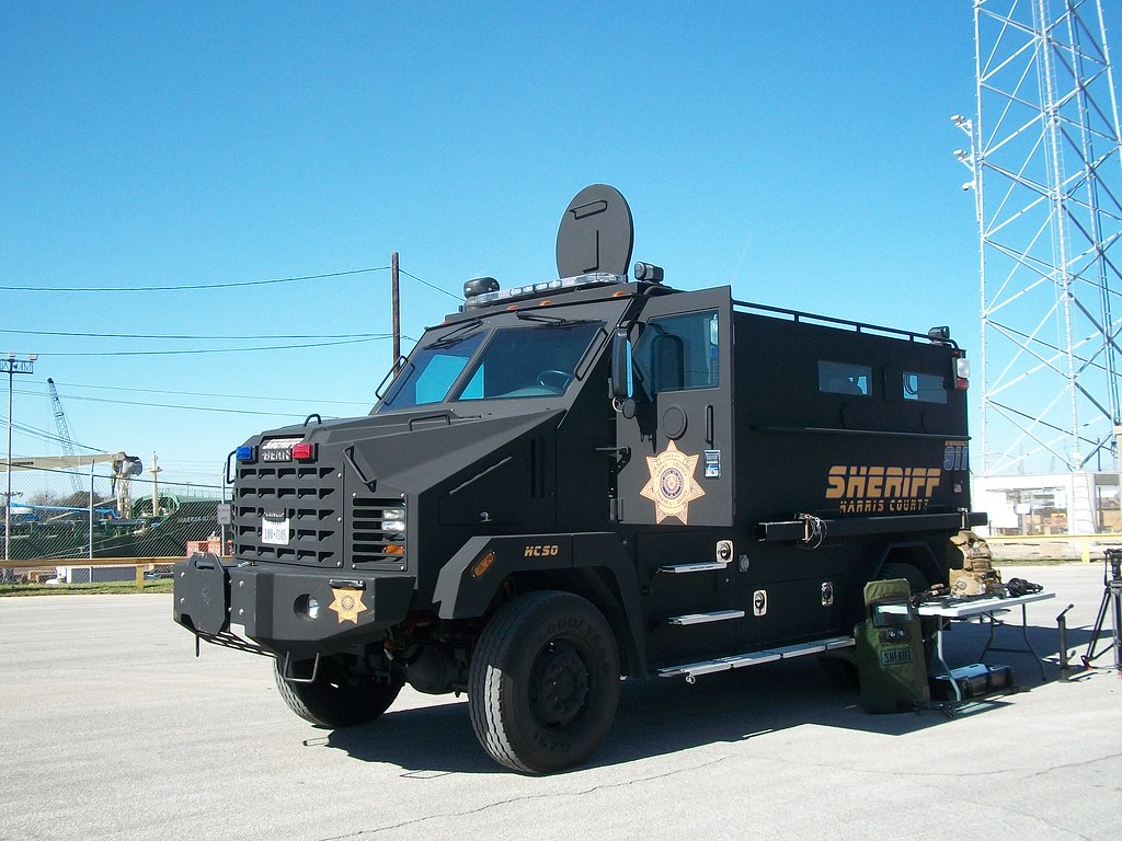 ... Harris County Sheriff's Department Armored Vehicle, Port of Houston, Texas   by Gail_HPM
