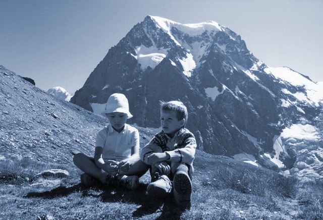 Summer in the Swiss Alps (an old photo - 1980)