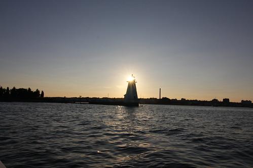 ocean sunset lighthouse ma waterfront massachusetts coastal newbedford palmersisland bristolcounty